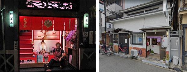 飛田新地と松島新地は玄関に座る人数が違う
